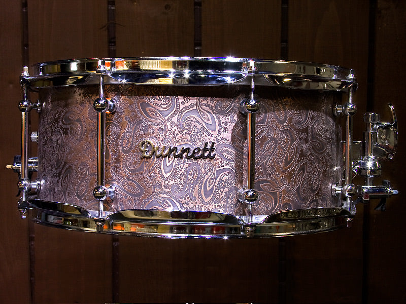 Dunnett Trussart Paisley snare drum Drum Shop UK