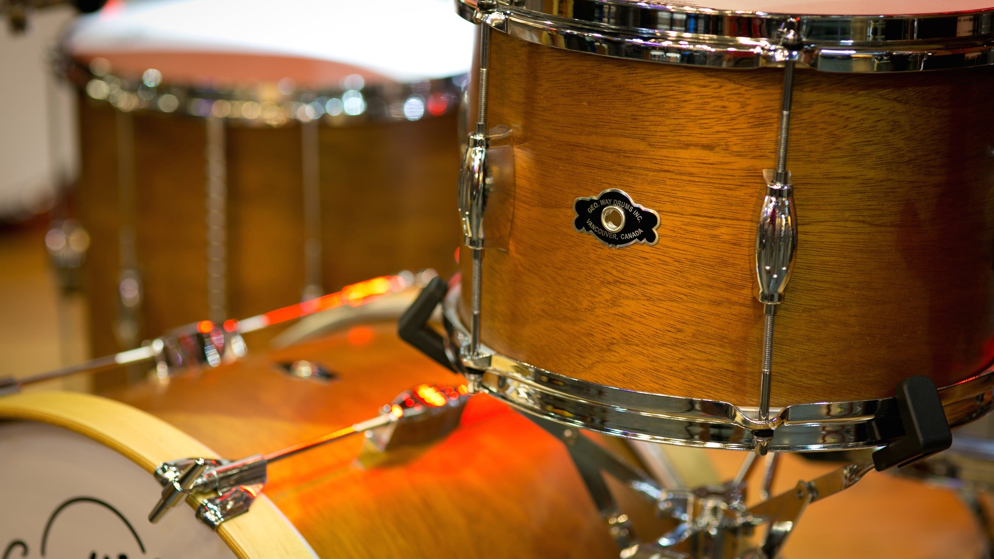 Mahogany drum Kit by George Way