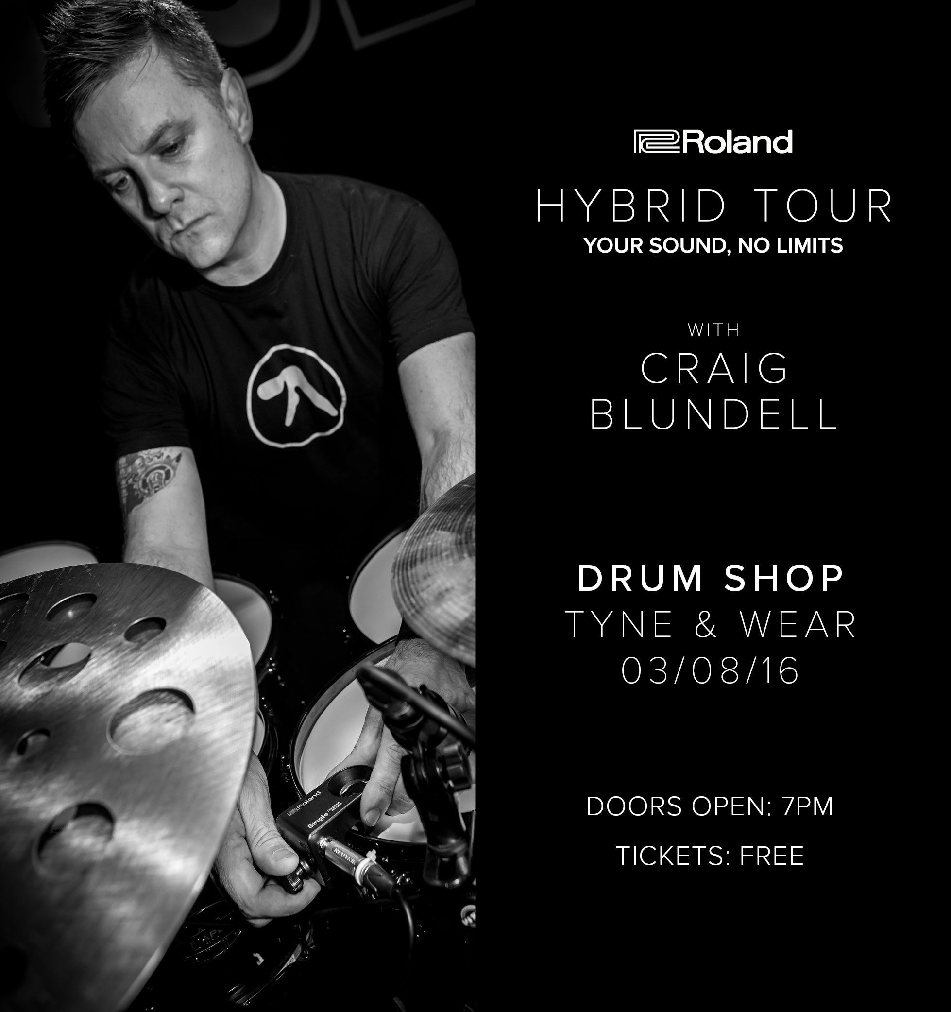 Roland Craig Blundell at Drum Shop UK