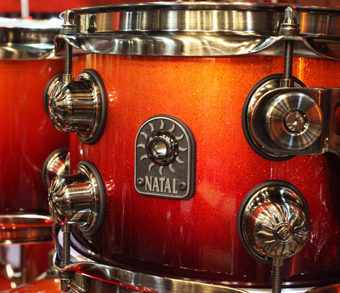 Natal Sunburst fade drum kit