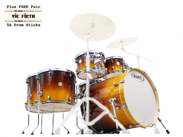 Mapex drum kit with free drumsticks