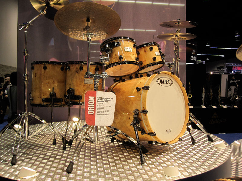 New Mapex Orion drum kits at NAMM 2010 Drumshop UK