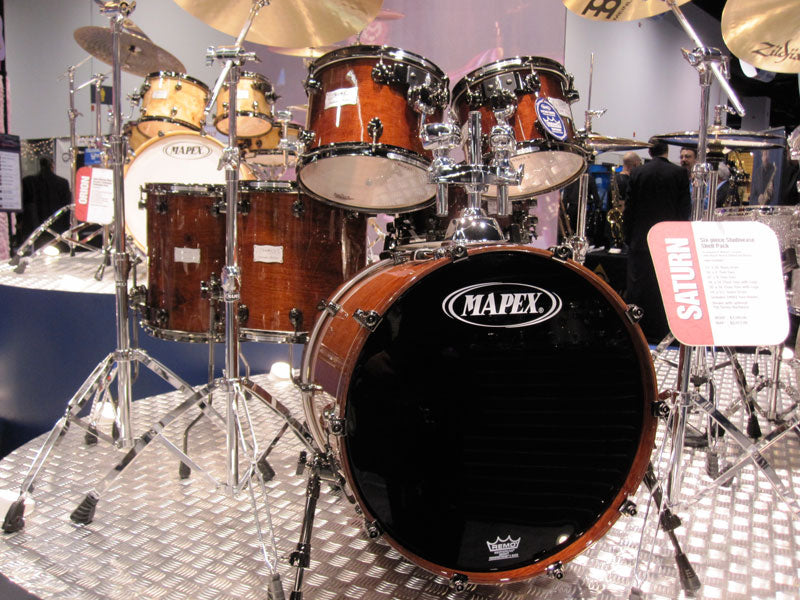 New Mapex Saturn drum kits at NAMM 2010 Drumshop UK