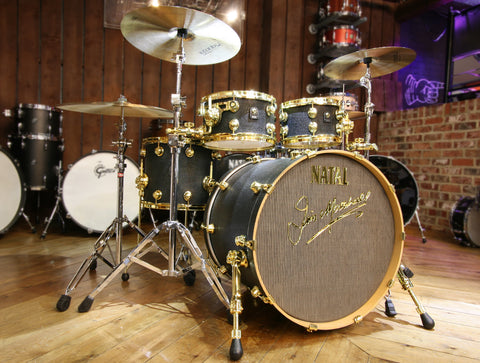 Natal JMK Marshall gold and black drum kit, Jim Marshall blog
