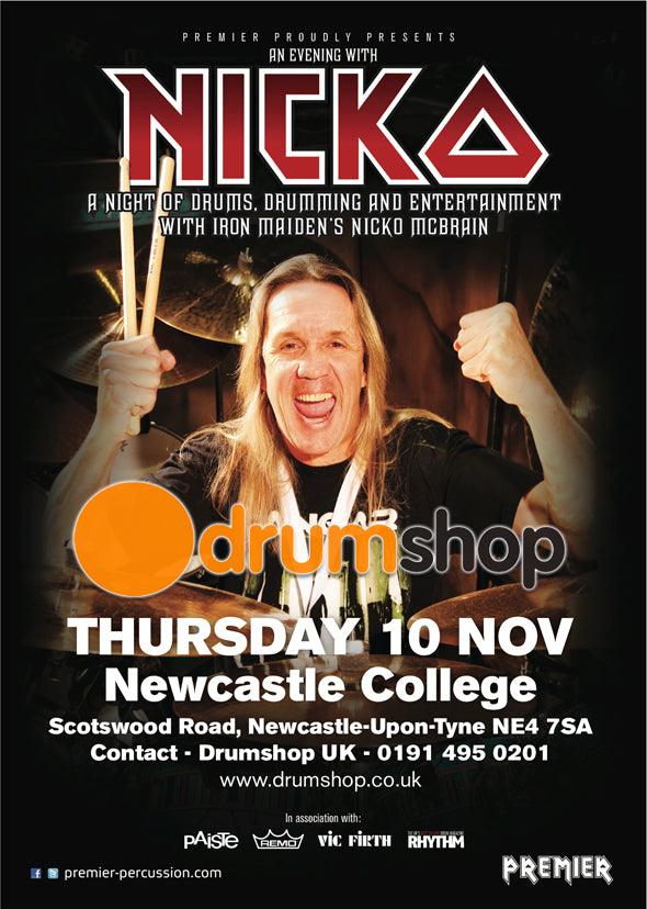 Nicko McBrain comes to Drum Shop UK