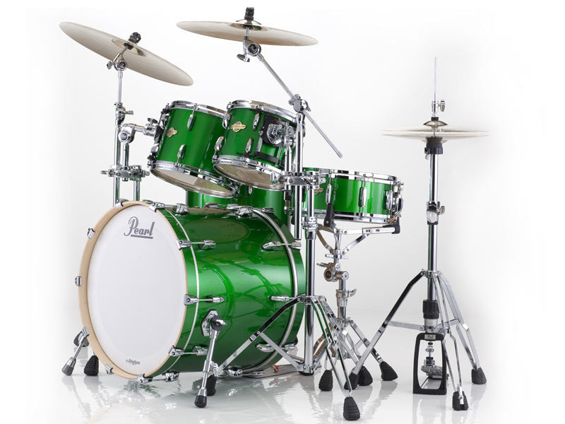 Pearl Masters Drum Kit in Shamrock Green at the drum shop uk