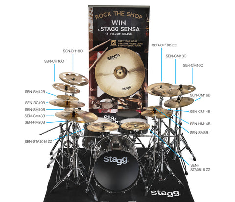 Win a Stagg cymbal