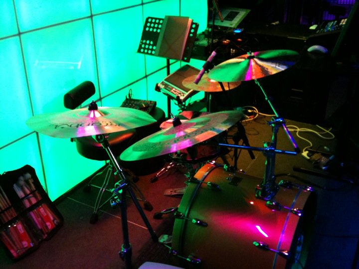 Spector drum kit set-up