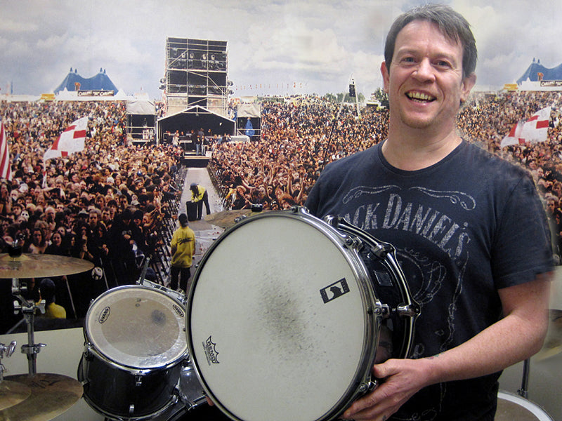 Chris Hemming with his Mapex Phat Bob snare drum