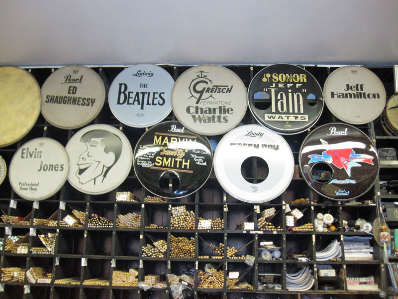 Famous drum heads NAMM 2010 Drumshop UK