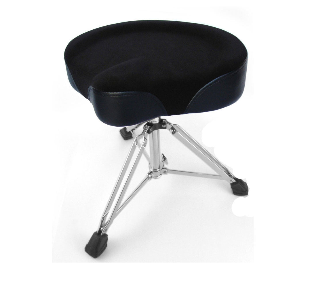 Custom Percussion black drum throne double braced legs