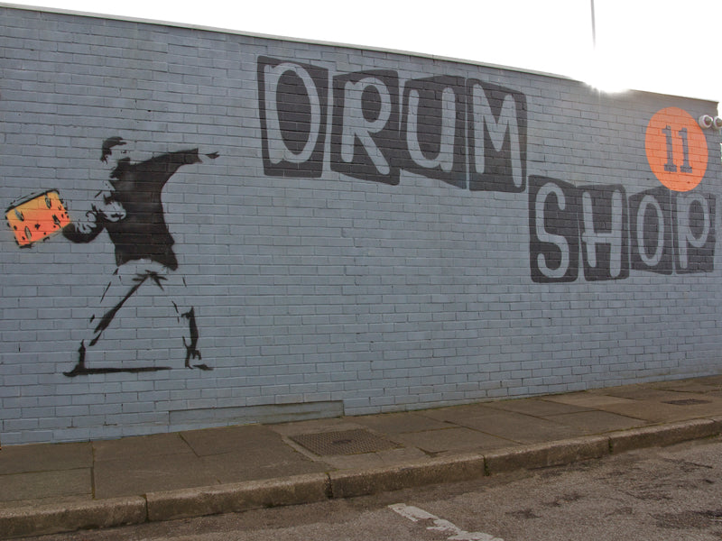 drumshop uk front building wall
