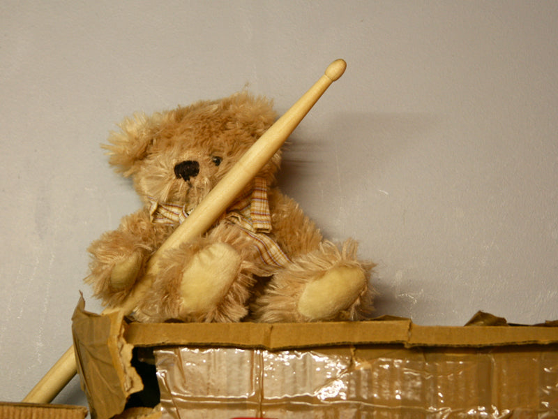 Teddy bear with drumsticks Drumshop365 blog Drumshop UK