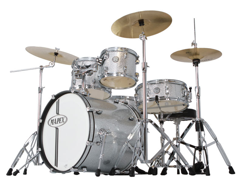 Mapex Horizon HX Silver Sparkle Drum Kit