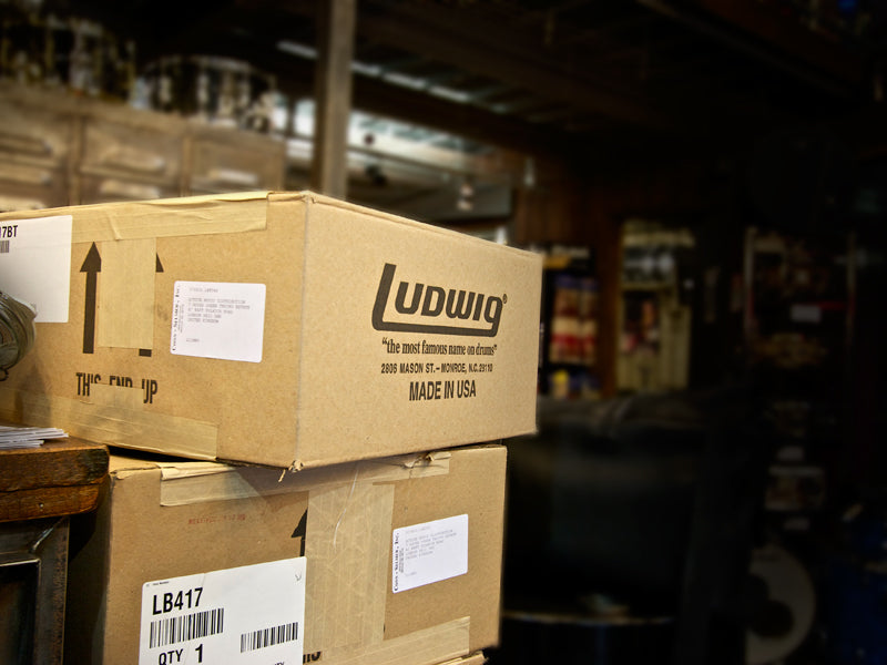 Ludwig Boxes at Drum Shop UK, Ludwig Delivery