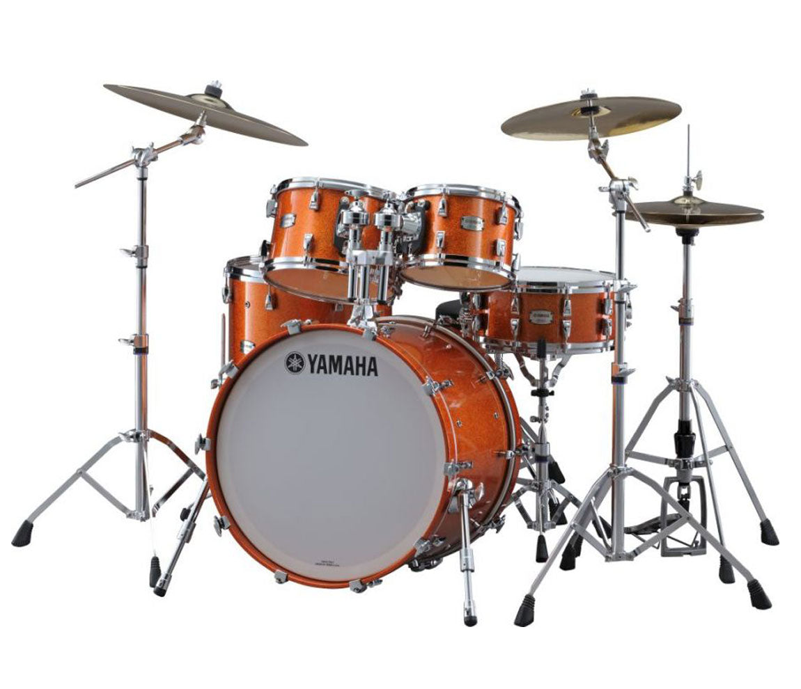 Yamaha Orange Sparkle Drum Kit in Maple Hybrid