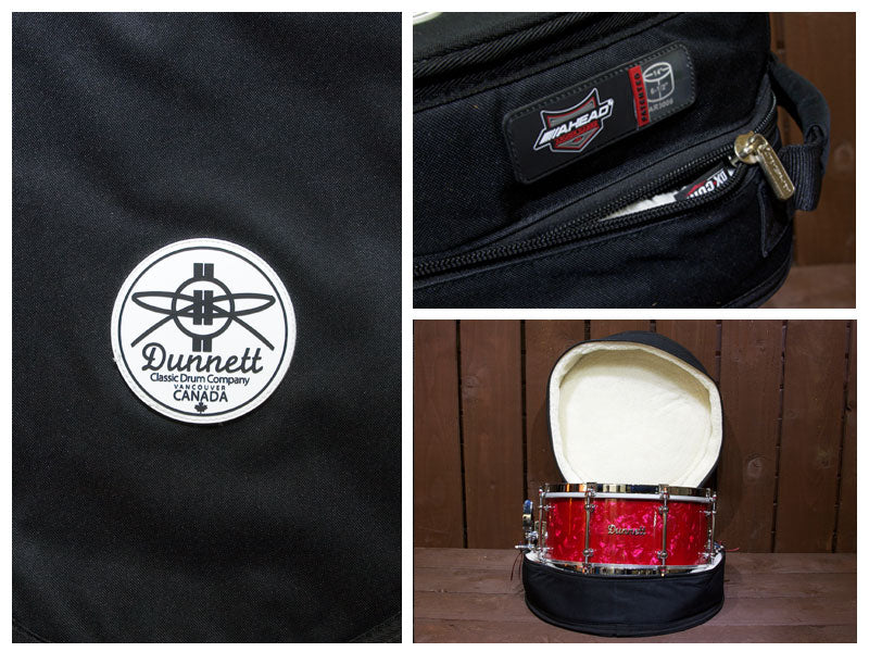 Dunnett snare drum with free Dunnett Ahead snare drum case