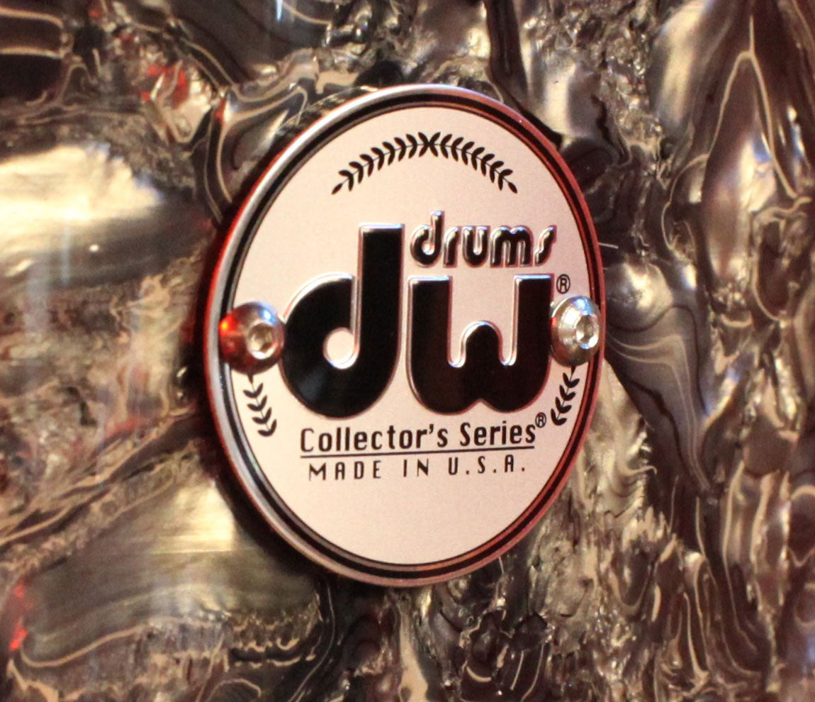 Drum Workshop Collector's Series 5-Piece Shell Pack in Silver Abalone Badge