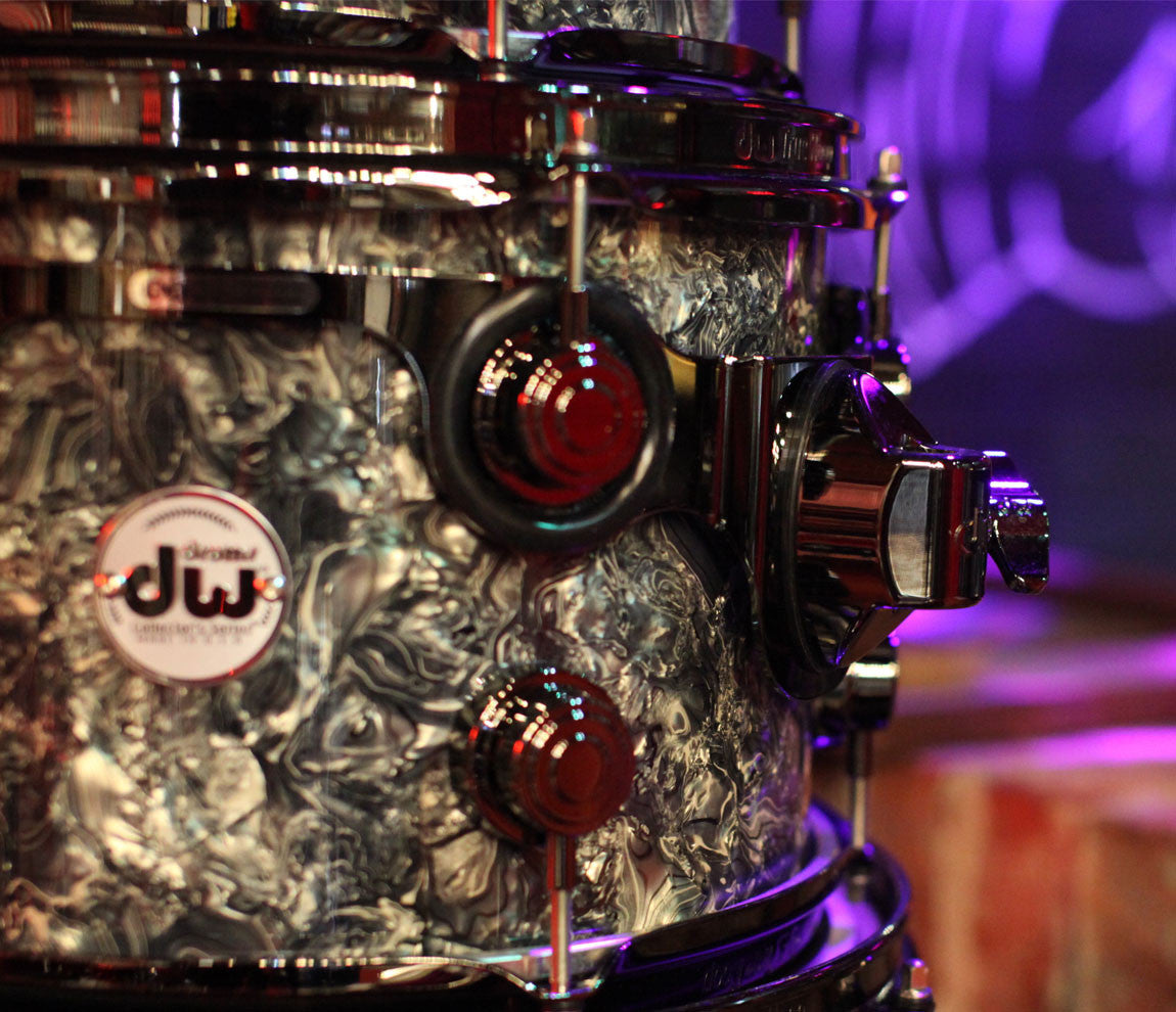 Drum Workshop Collector's Series 5-Piece Shell Pack in Silver Abalone Tom