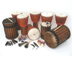 Full African Drumming Set-up for 18 players and older kids