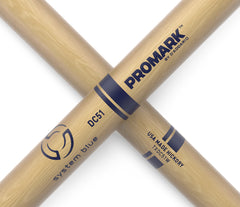 Promark System Blue Hickory DC51 Marching Snare Drumsticks