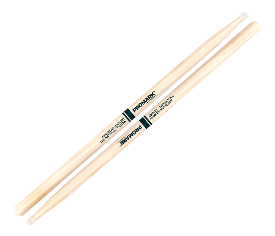 Promark 2B American Hickory with Natural Nylon Tip Drumsticks, Promark, Drumsticks, Hickory, 16