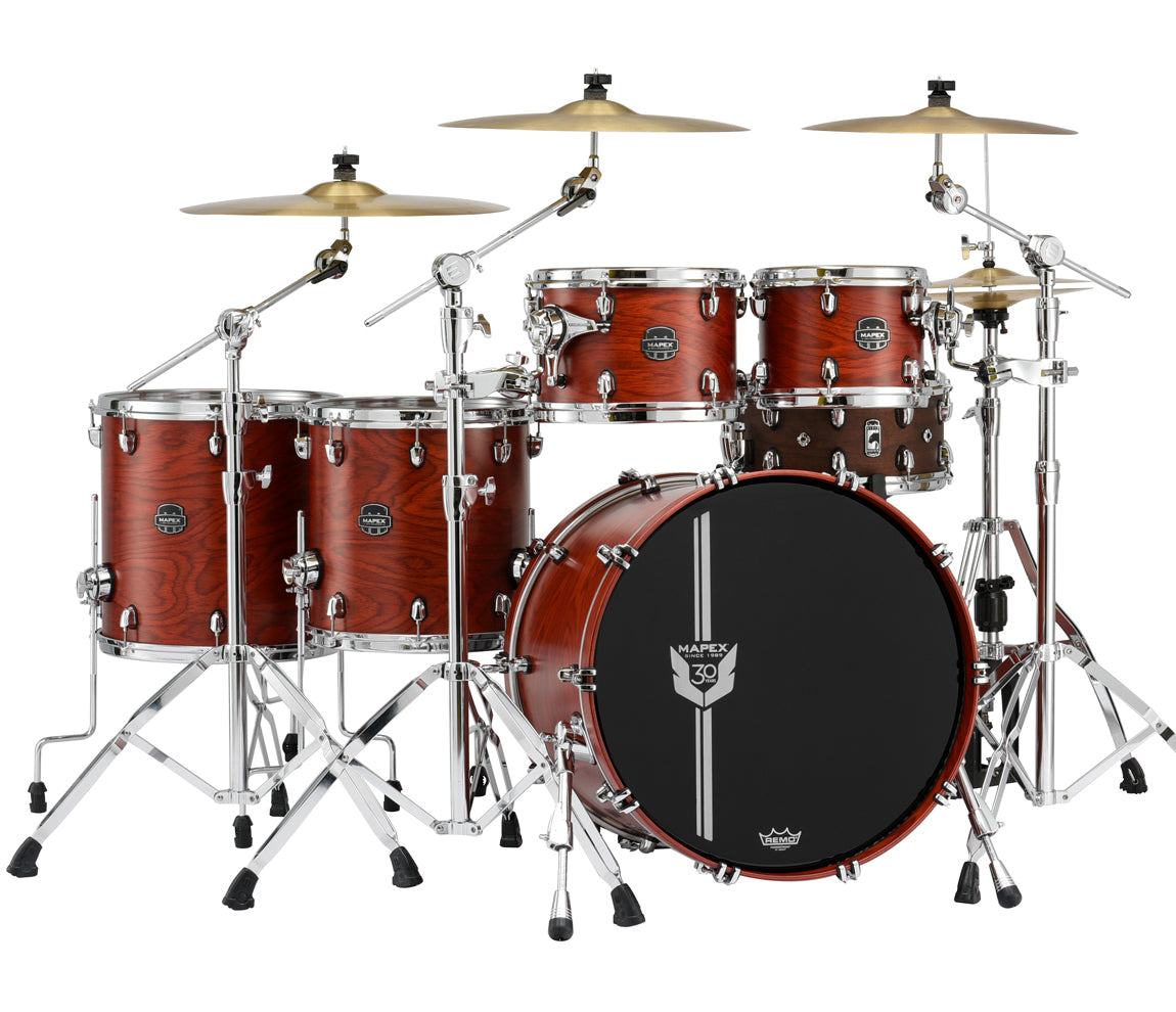 Mapex 30th Anniversary Limited Edition Drum Kit, Mapex, Drum Kits, Garnet Flame, 22