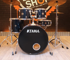 Pre-Loved Tama Swingstar Blue Drum Kit with Hardware and Cymbals