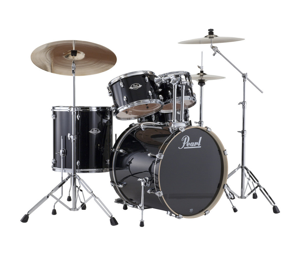 Pearl Export EXX 5-piece Drum Kit with Pearl Hardware Pack and Sabian Cymbals in Jet Black