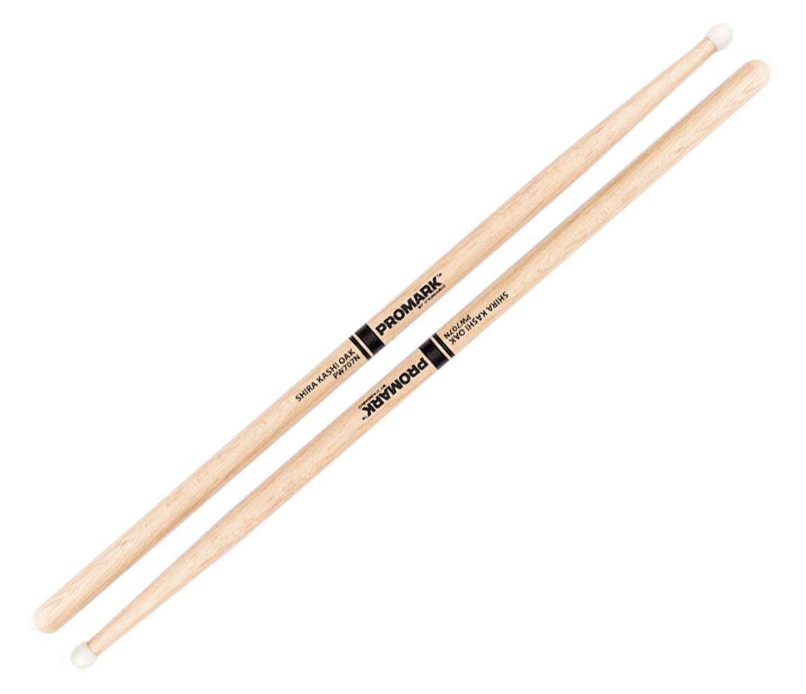 Promark Shira Kashi Japanese Oak 707 Nylon Tip Drumsticks