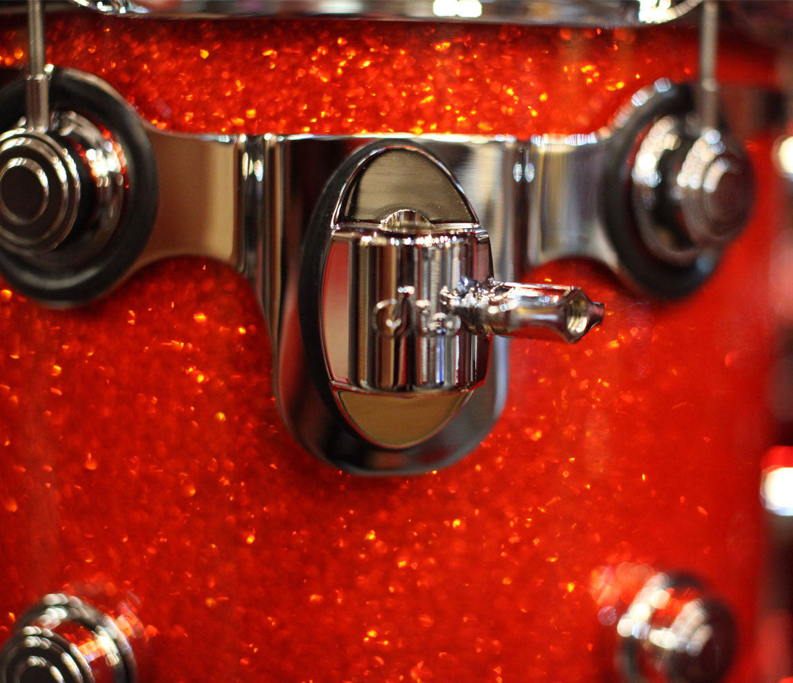 Drum Workshop Classic Series 3-Piece Shell Pack in Tangerine Glass Fittings
