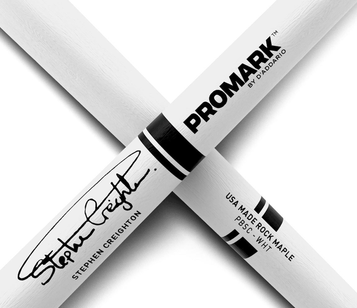 Promark Stephen Creighton Painted White Pipe Band Drumsticks