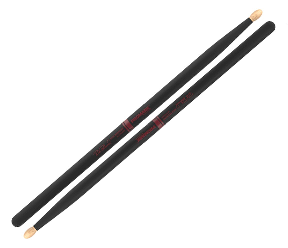 Promark Rich Redmond Signature ActiveGrip 5B Hickory Drumsticks, Promark, Drumsticks & Mallets, Drumsticks, ActiveGrip, Black, 5B, Accessories