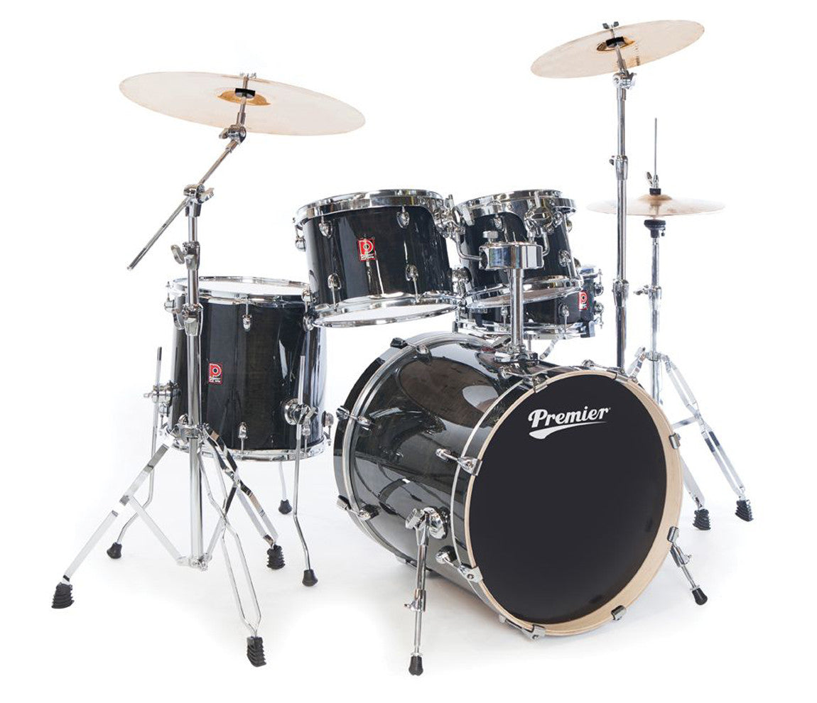 Premier XPK Modern Rock 5-Piece In Translucent Black Lacquer