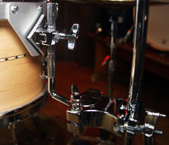 Craviotto Custom Shop 3-Piece Maple With Maple Inlay Drum Kit, Craviotto, Drum Kits, Natural Satin Oil, 22