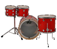 Drum Workshop Collectors 4-Piece in Super Tangerine Glass