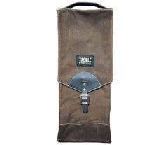 TACKLE WAXED CANVAS COMPACT STICK CASE - BROWN