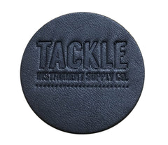 TACKLE - LARGE LEATHER BASS DRUM PATCH - BLACK