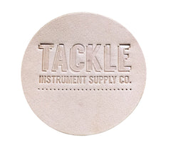TACKLE - SMALL LEATHER BASS DRUM PATCH - NATURAL