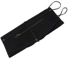 TACKLE WAXED CANVAS ROLL UP STICK CASE - FOREST BLACK