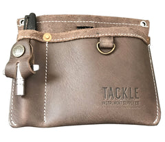 TACKLE WAXED CANVAS GIG POUCH - FOREST GREEN