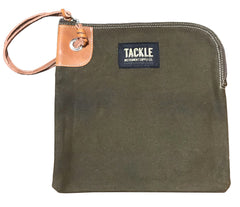 TACKLE ZIPPERED ACCESSORY BAG - FOREST GREEN