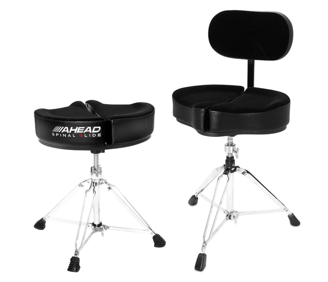 Ahead Spinal-G Drum Throne with Backrest, Ahead, Drum Thrones, Hardware, Backrest, Saddle Throne, Black