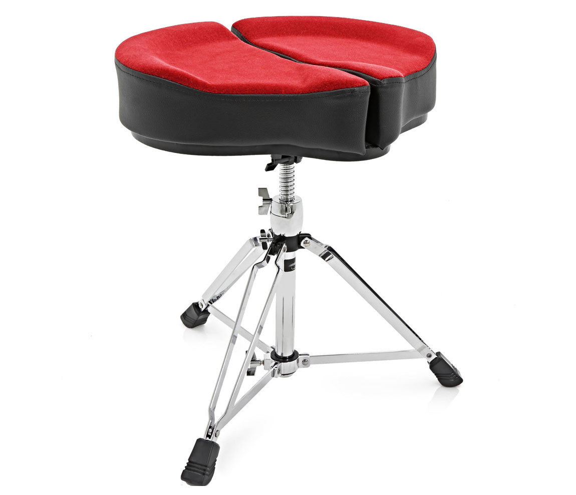 Ahead Spinal-G Drum Throne, Drum Thrones, Ahead, Hardware, Red, Saddle Seat