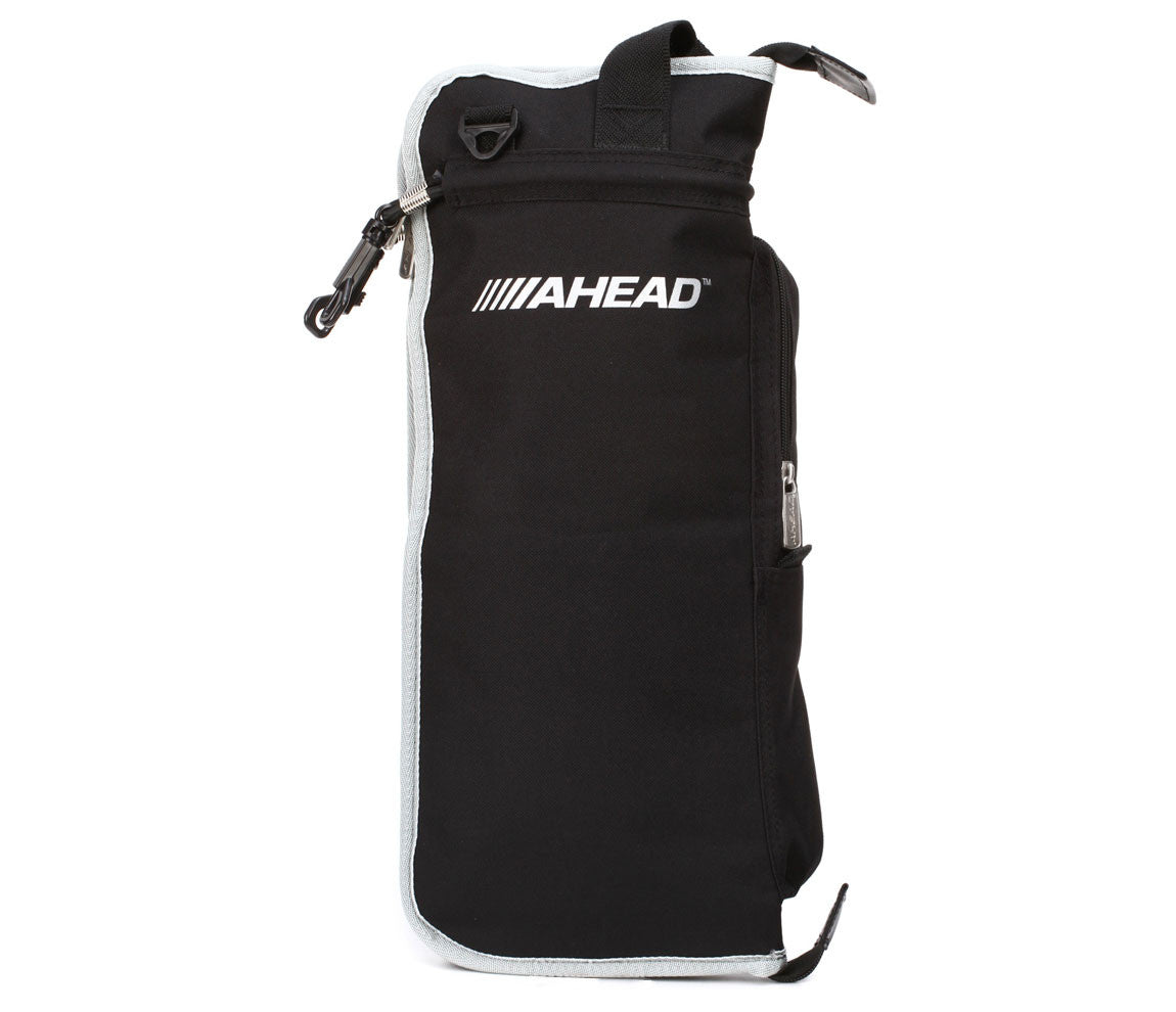 Ahead (ASB2) Black with Grey Trim Stick Bag, Ahead, Bags and Cases, Drumstick Bag, Black with Grey Trim