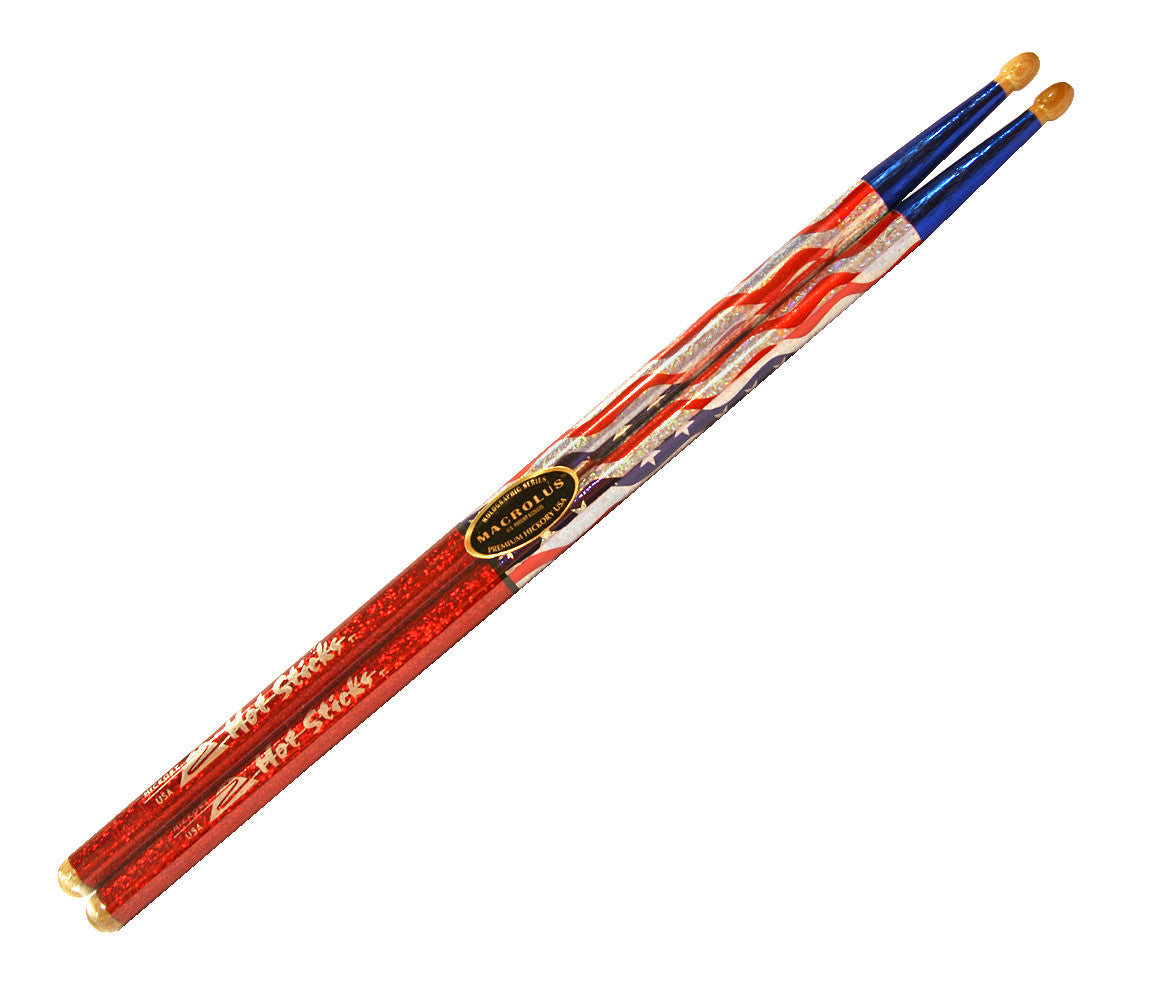 Hot Sticks American Flag Drumsticks Macrolus Series