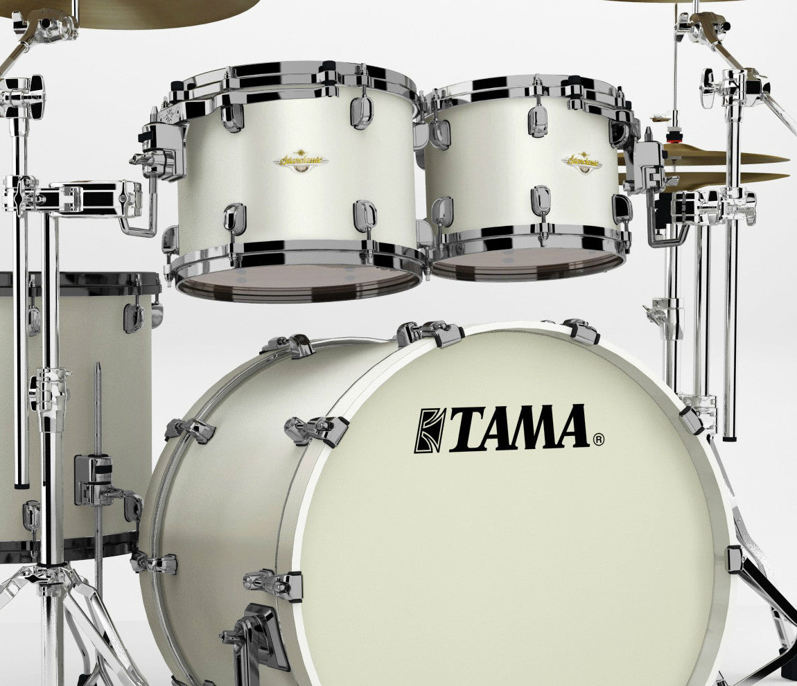 Tama Starclassic Bubinga 4-Piece in Satin Pearl White – Drum