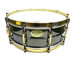 WorldMax Black on Brass/Aztec Gold Snare Drum  BK-6514SFXG