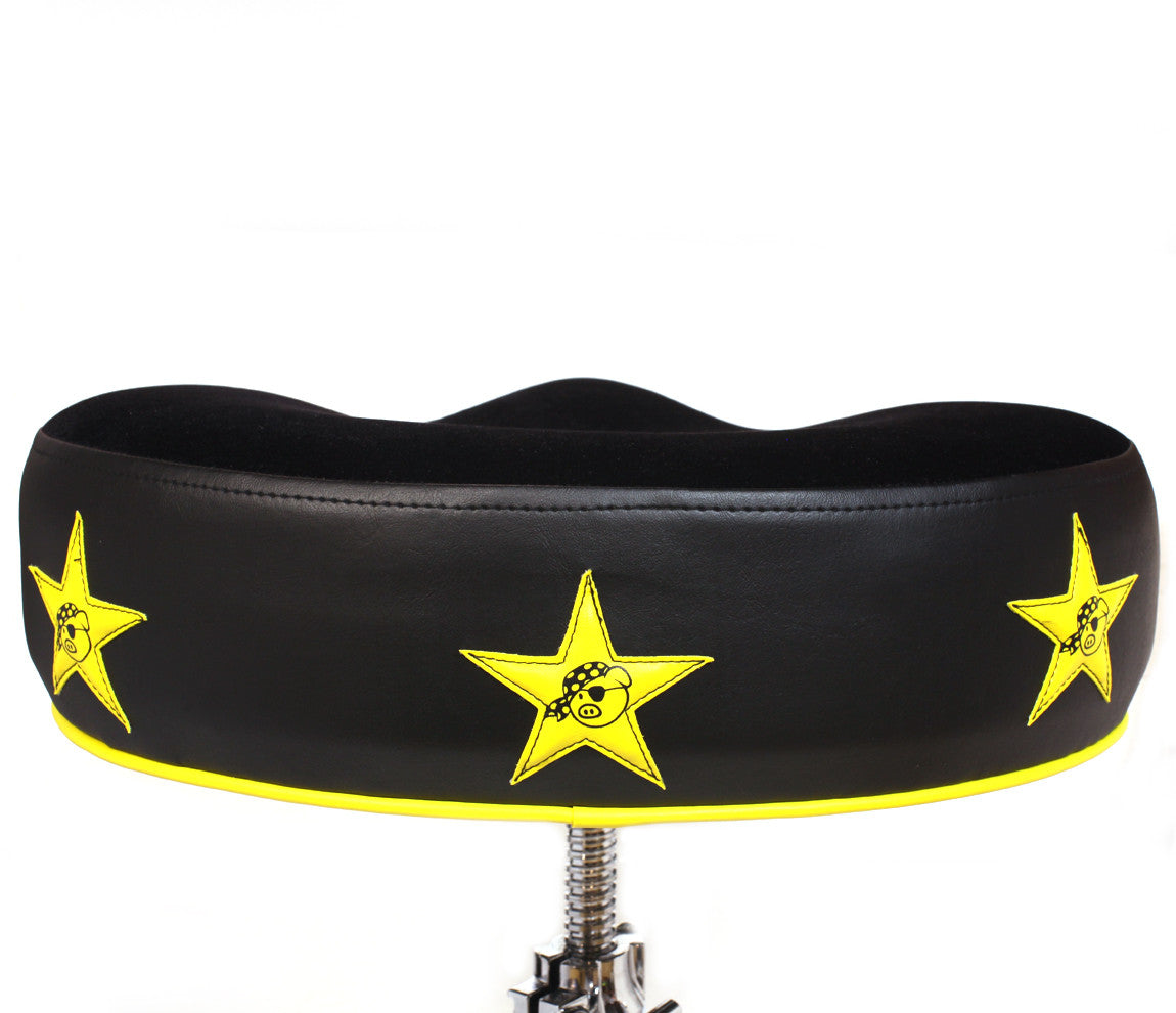 Pork Pie Yellow Star Drum Throne