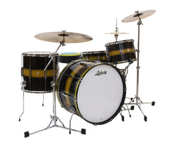 Ludwig Club Date Vintage Pro Beat 3-Piece Shell Pack in Black Gold Duco